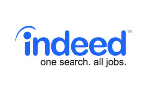 Indeed.com logo with sub heading: one search. all jobs