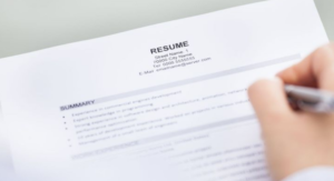 Contact information resume checklist