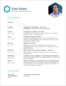 Visual illustration cv