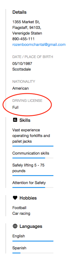 How To State Your Driver S License On Your Resume