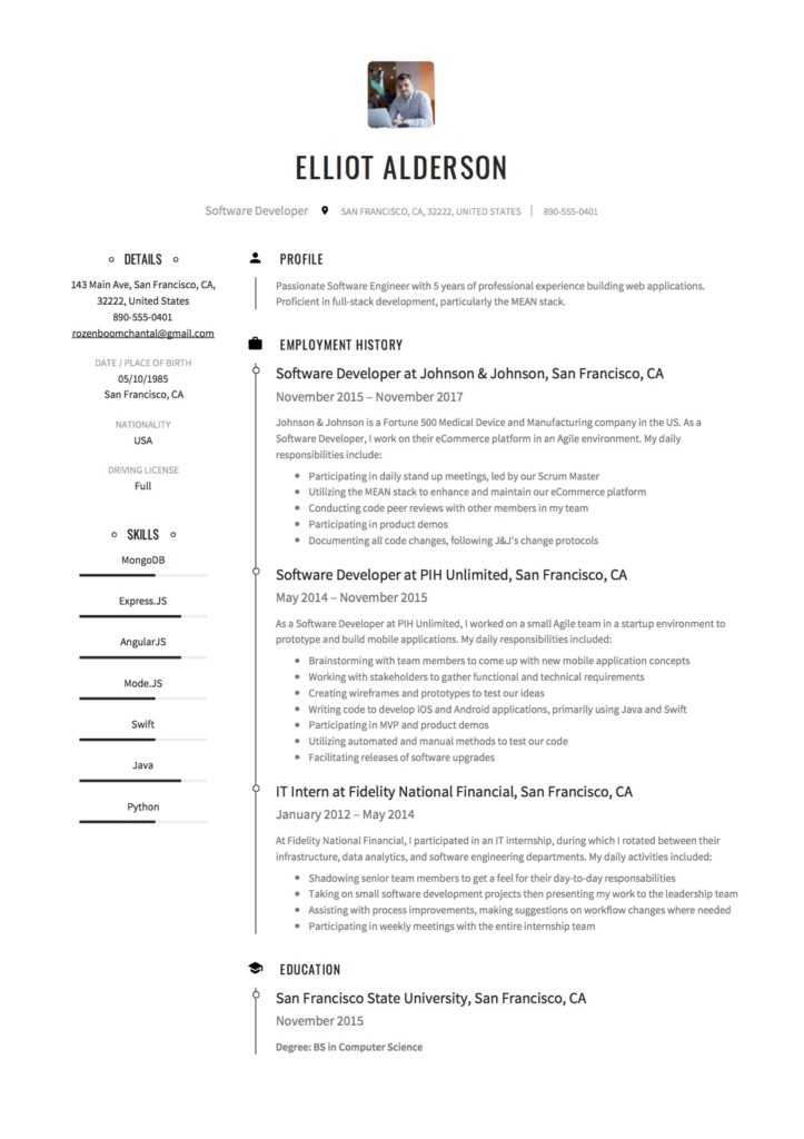 Guide Software Developer Resume 19 Examples Word Pdf 2020