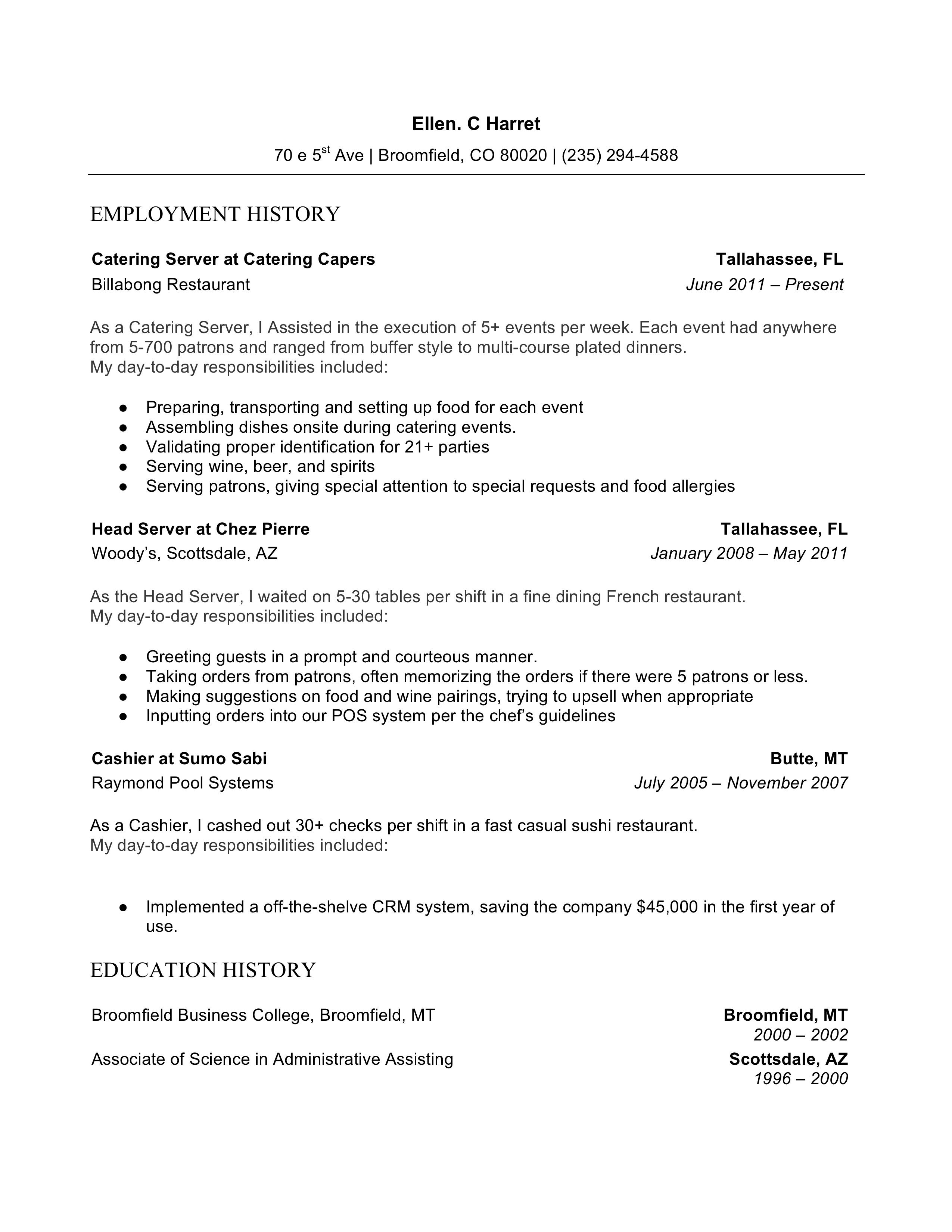 Resume Formats Chronological Functional Combo 2020