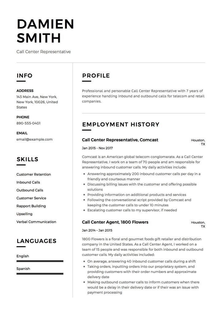 Damien Smith - Resume - Call Center Representative-12