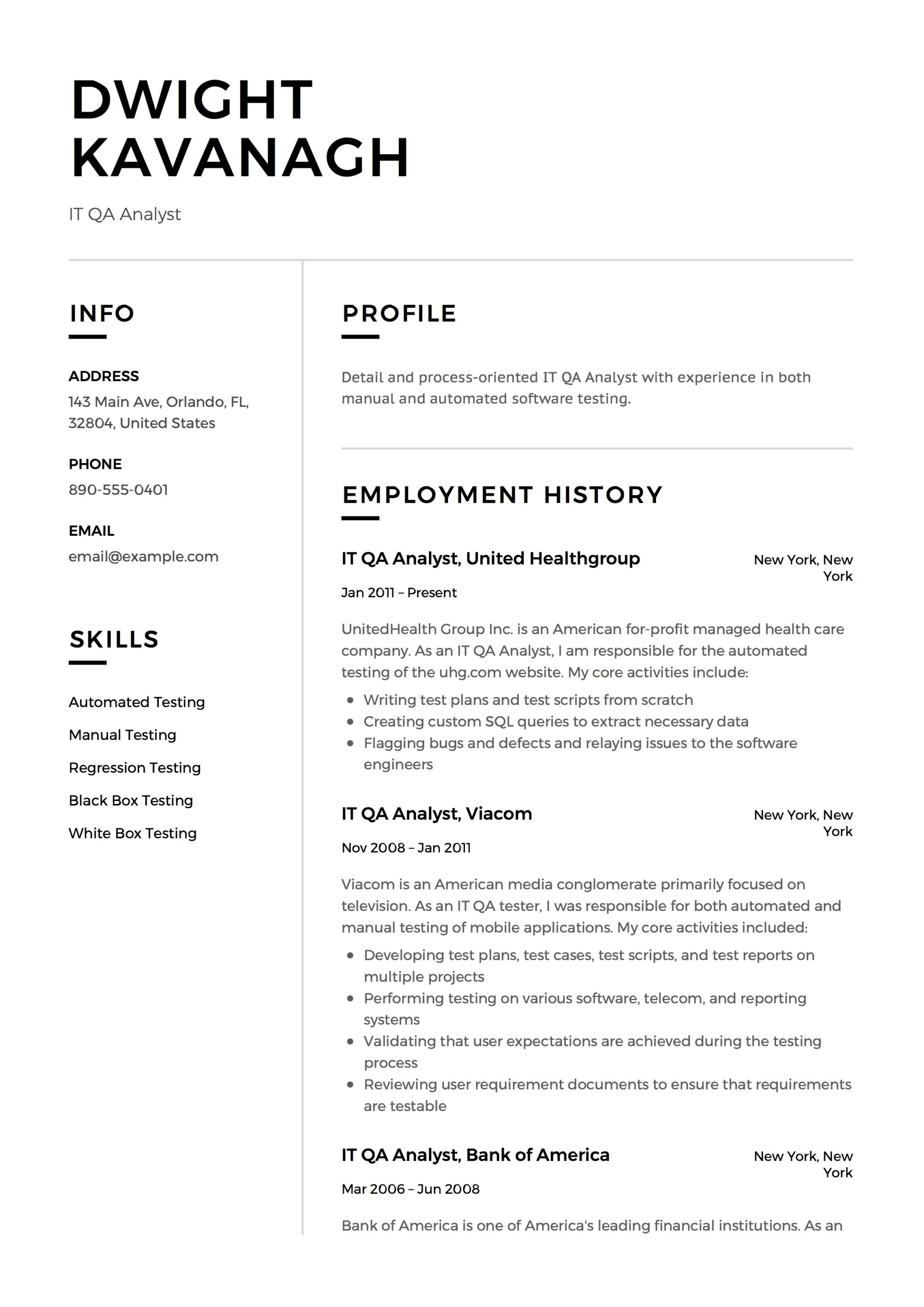 It Qa Analyst Resume Amp Guide 12 Templates Pdf