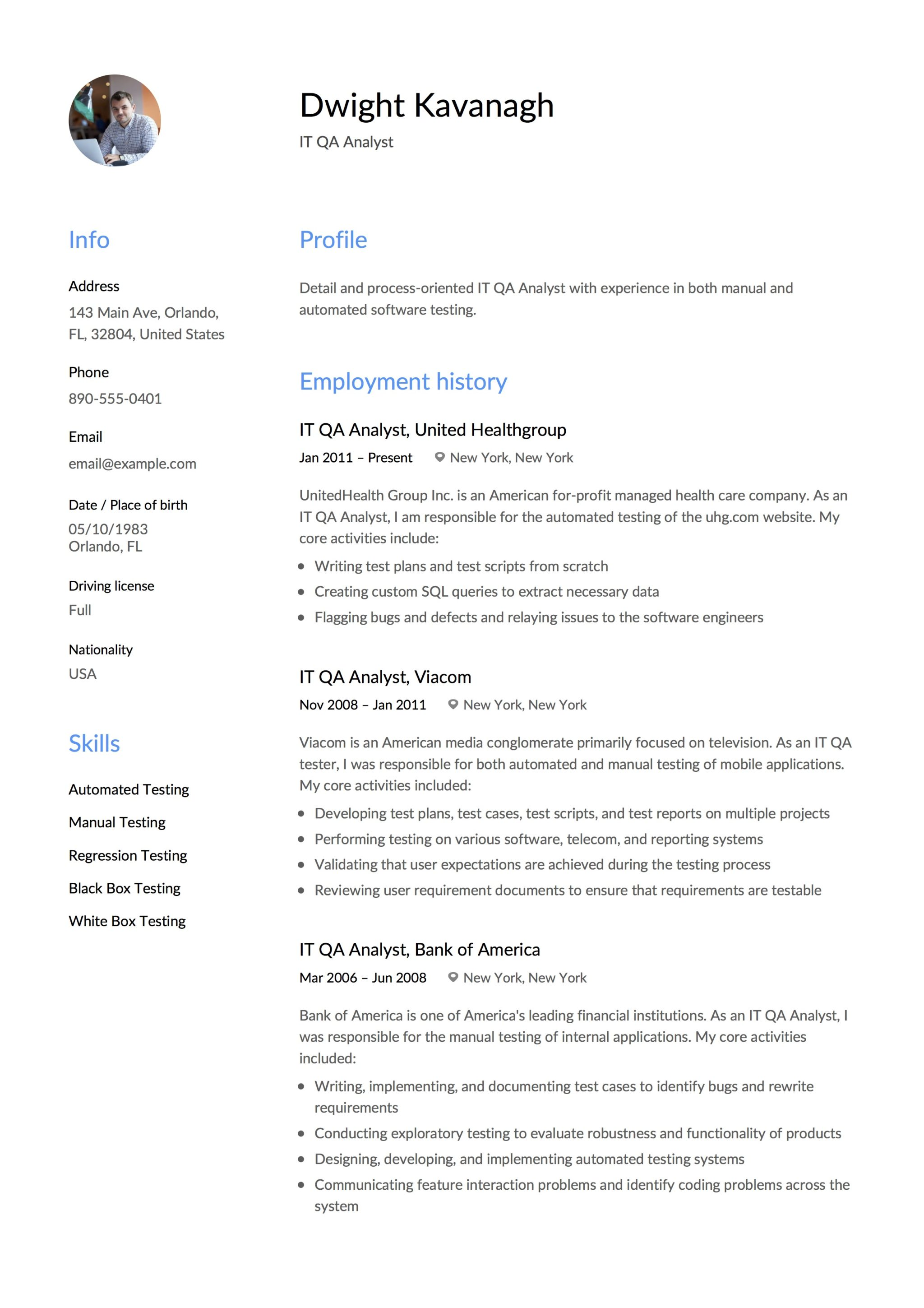 It Qa Analyst Resume Guide 12 Templates Pdf Download 2020