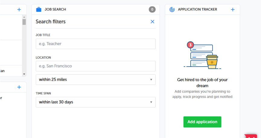 Job Search is a feature of resume.io