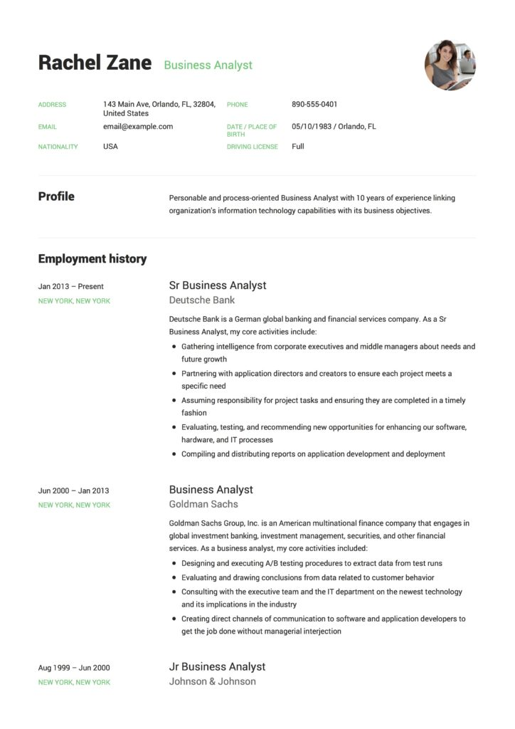 business analyst resume  guide  12 templates  pdf