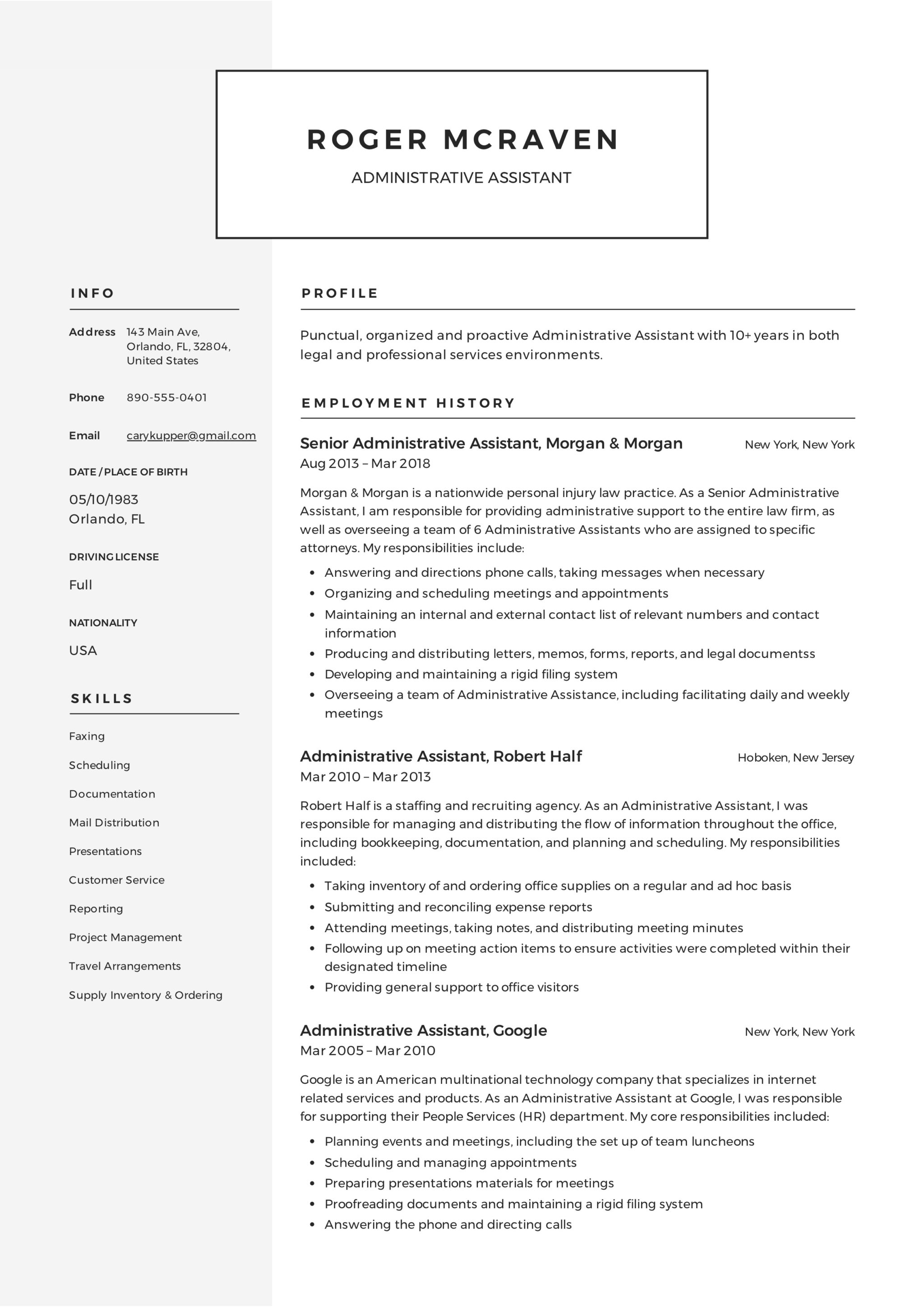 full guide  administrative assistant resume