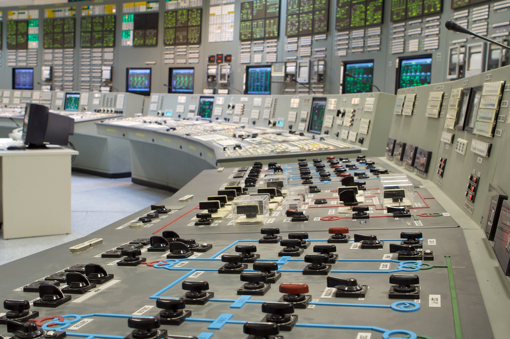 Workplace of the power plant distributor