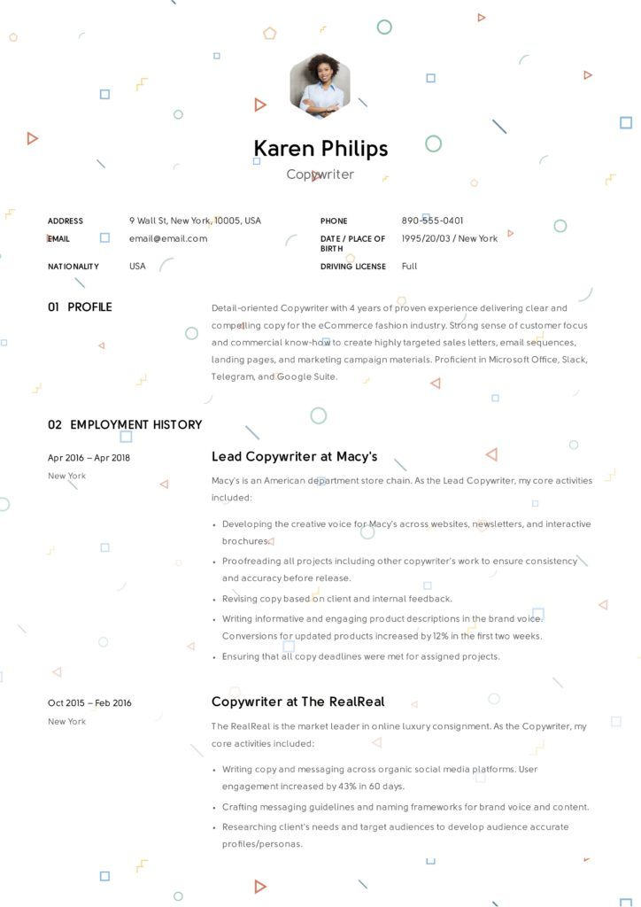 Copywriter Sample Resume (7)