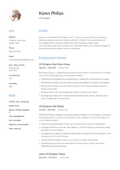 UX Designer Resume Sample - Karen Philips (8)