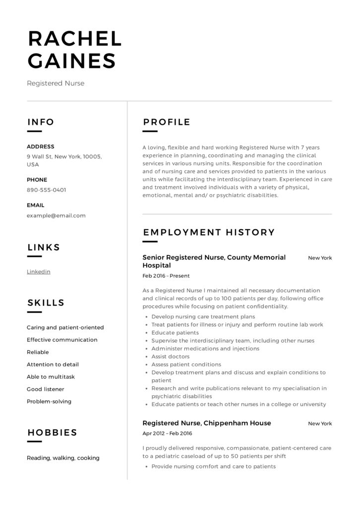 Registered Nurse Resume Sample Writing Guide 12 Samples Pdf
