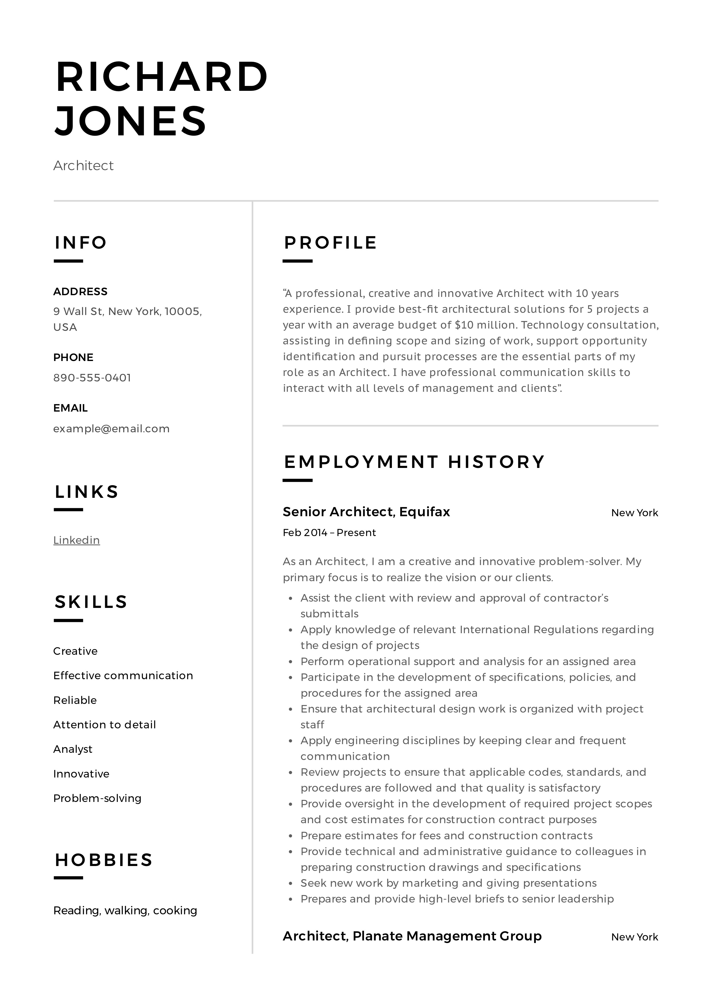 Architect Resume & Writing Guide | + 12 Samples | PDF | 2020