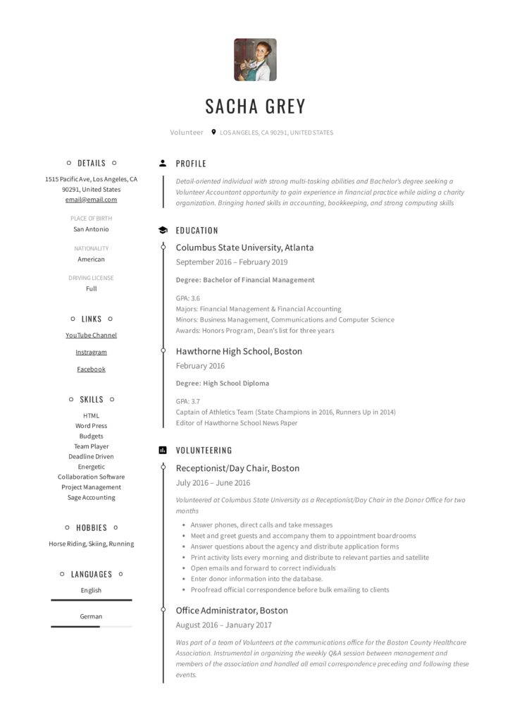 Fresh modern Creative Arts Resume Sample