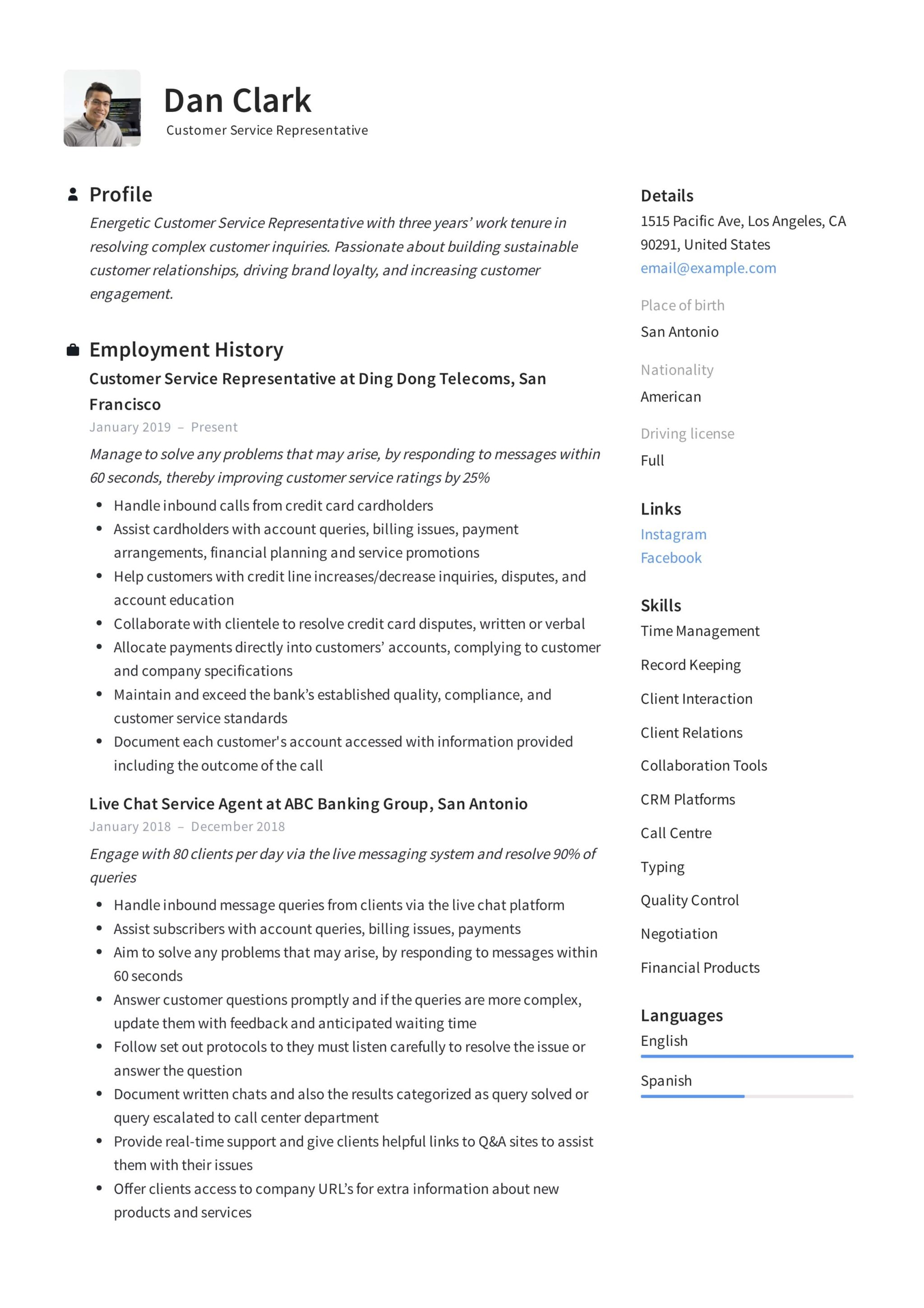 How To Customer Service Representative Resume 12 Pdf Samples