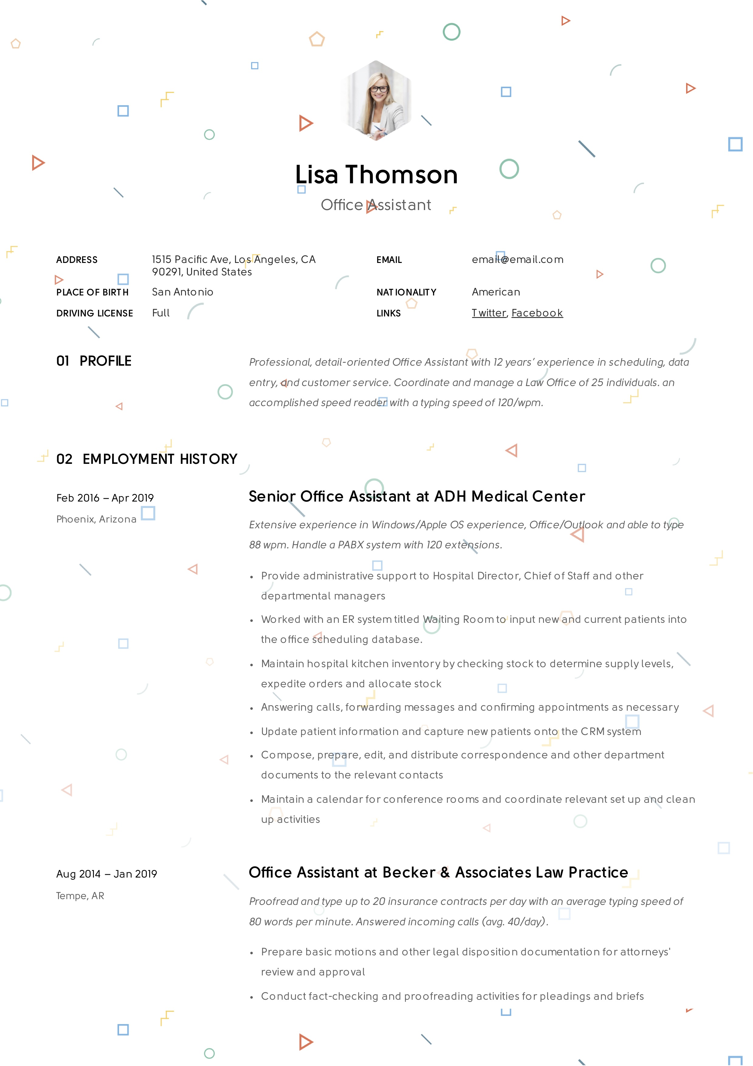 office assistant resume   writing guide