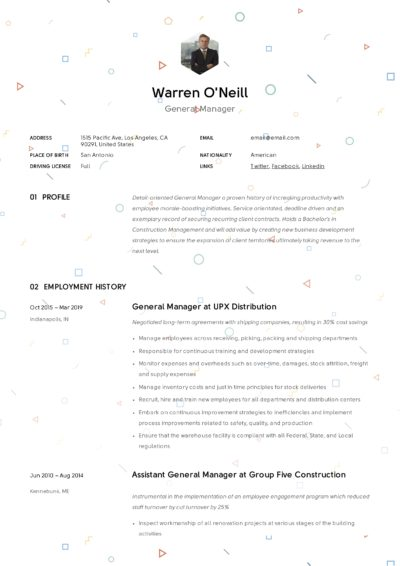Creative General Manager Resume