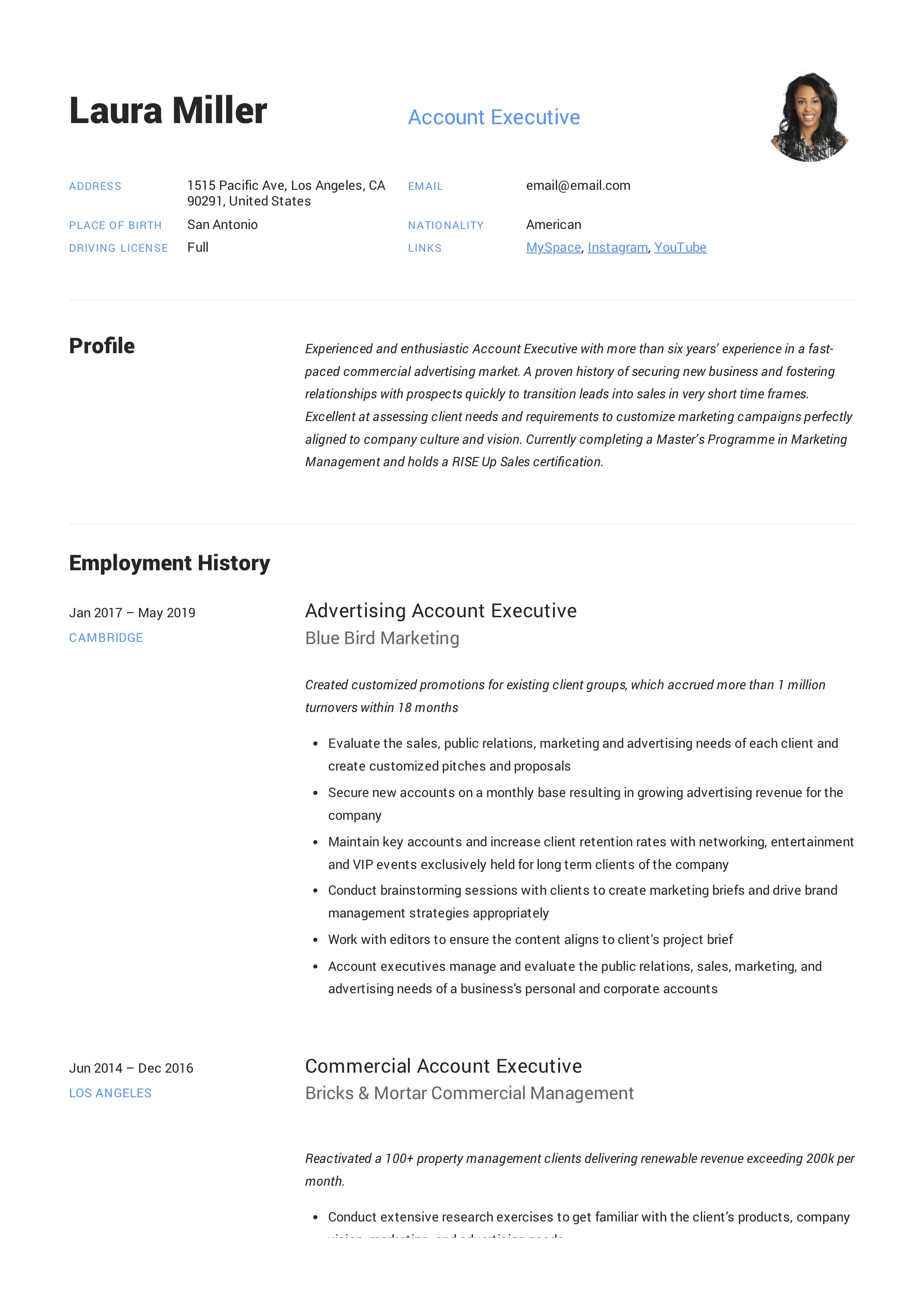 Account Executive Resume Writing Guide 12 Templates Pdf 20
