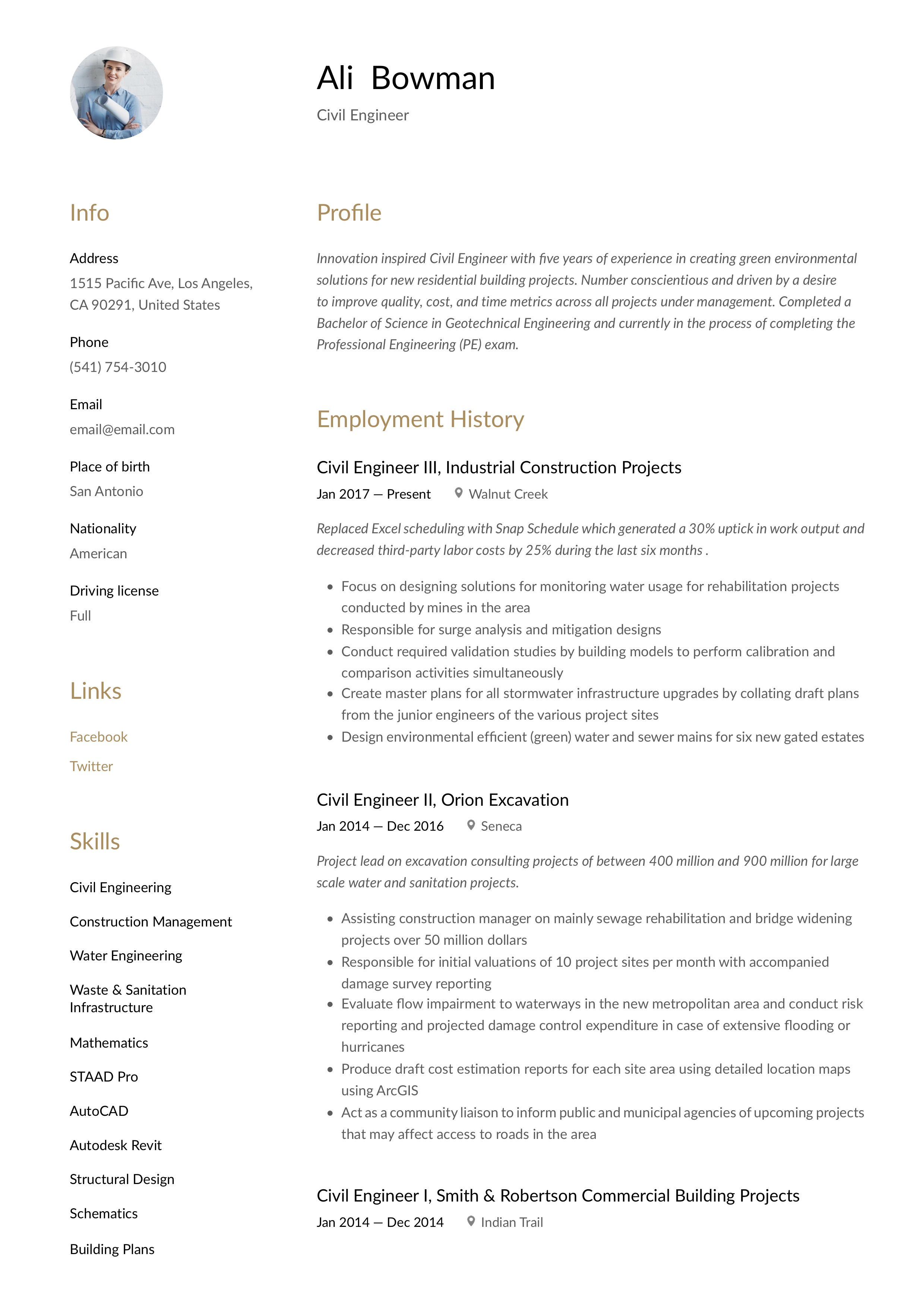 Civil Engineer Resume Writing Guide 12 Resume Templates 2020