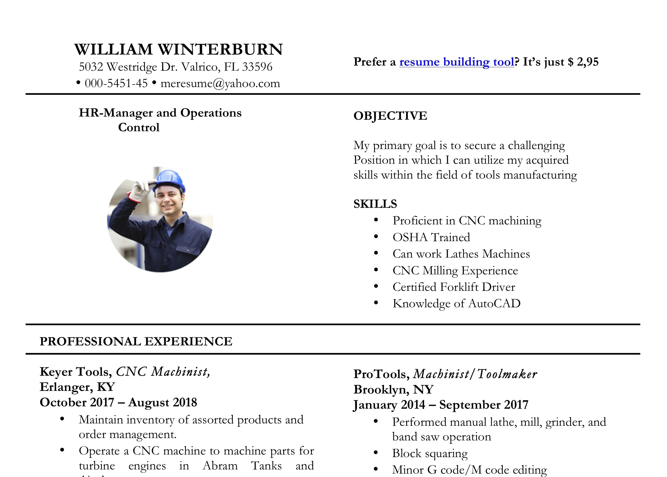 Free Word Resume Templates by ResumeViking.com