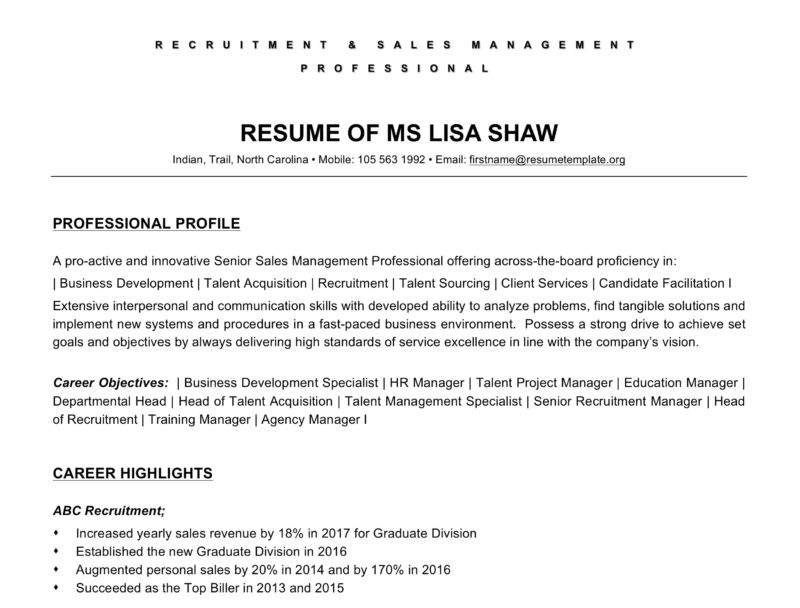 classic resume word template
