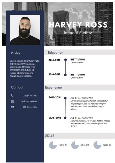 dark creative resume