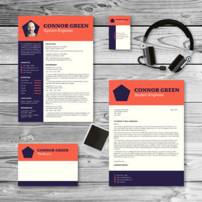 tomato purple colored resume and cover letter