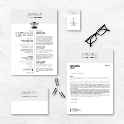 creative resume grey