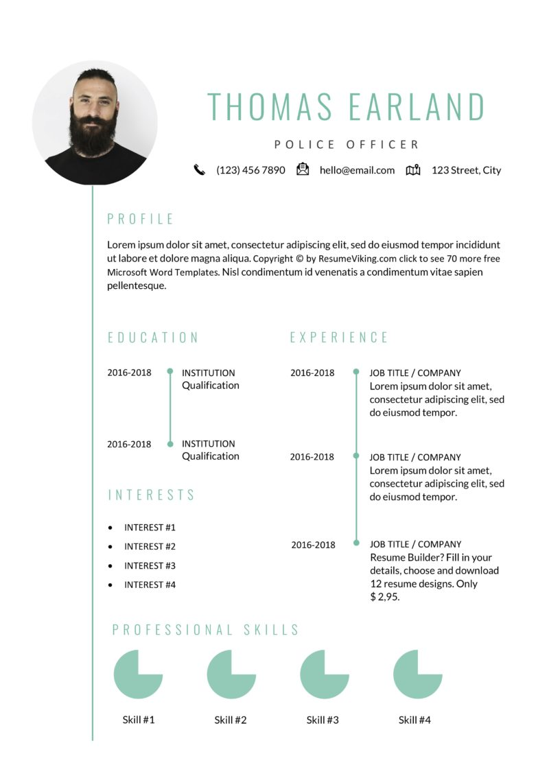 police officer resume
