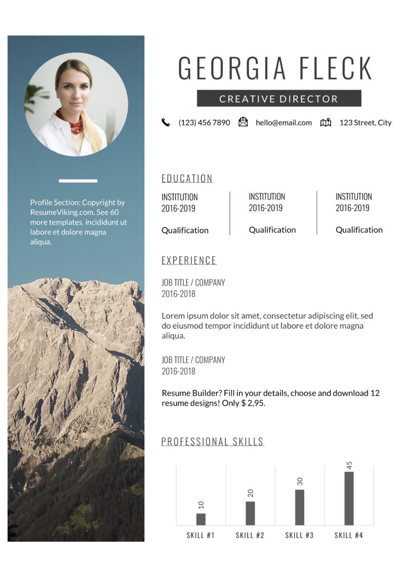 Creative director resume word