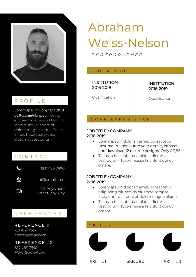 retro design word resume