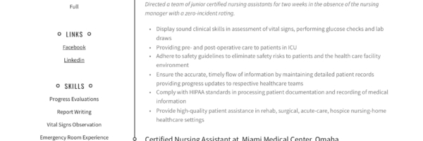Certified Nursing Assistant Resume & Writing Guide | 12 ...