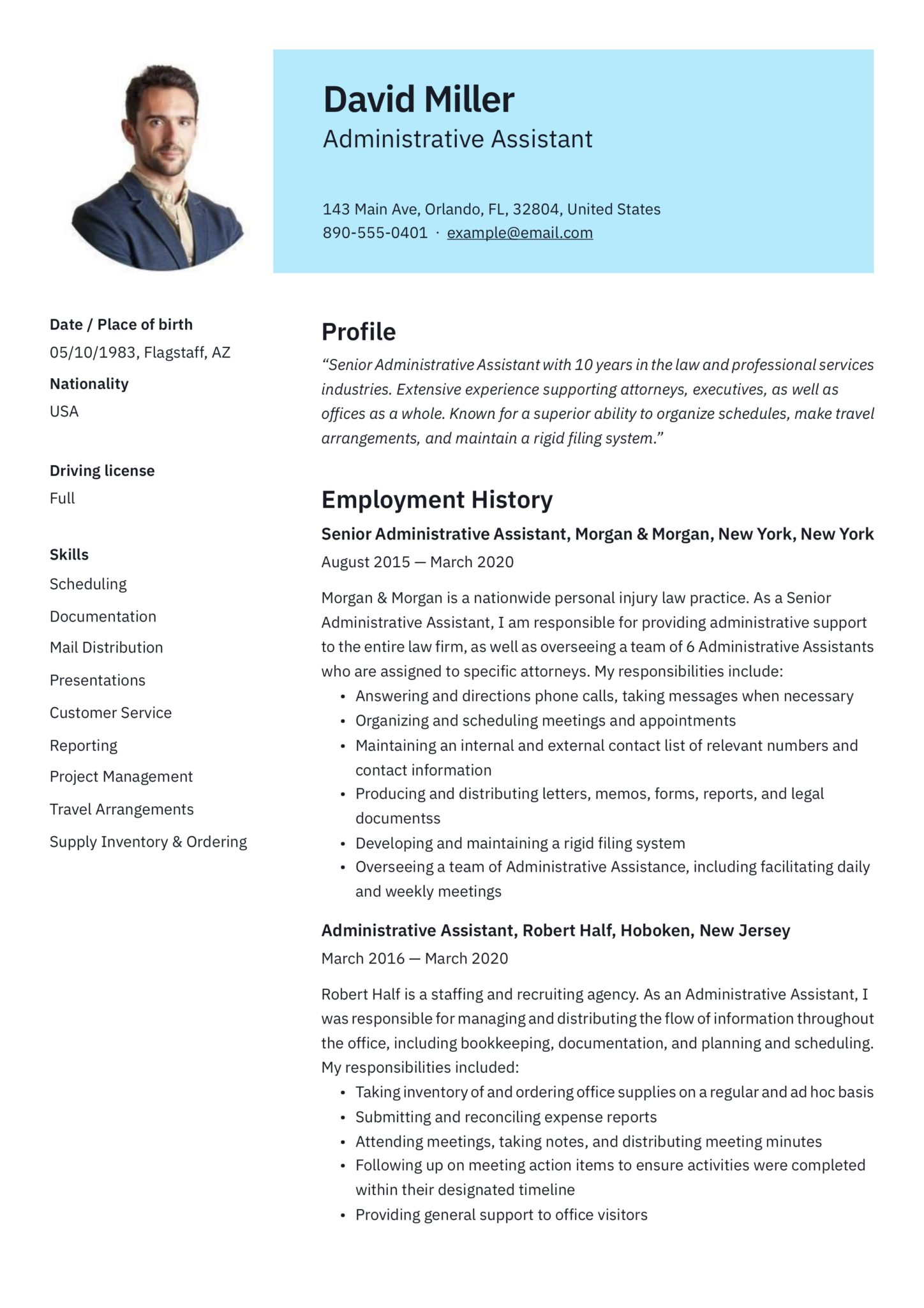 19 Free Administrative Assistant Resumes Writing Guide Pdf