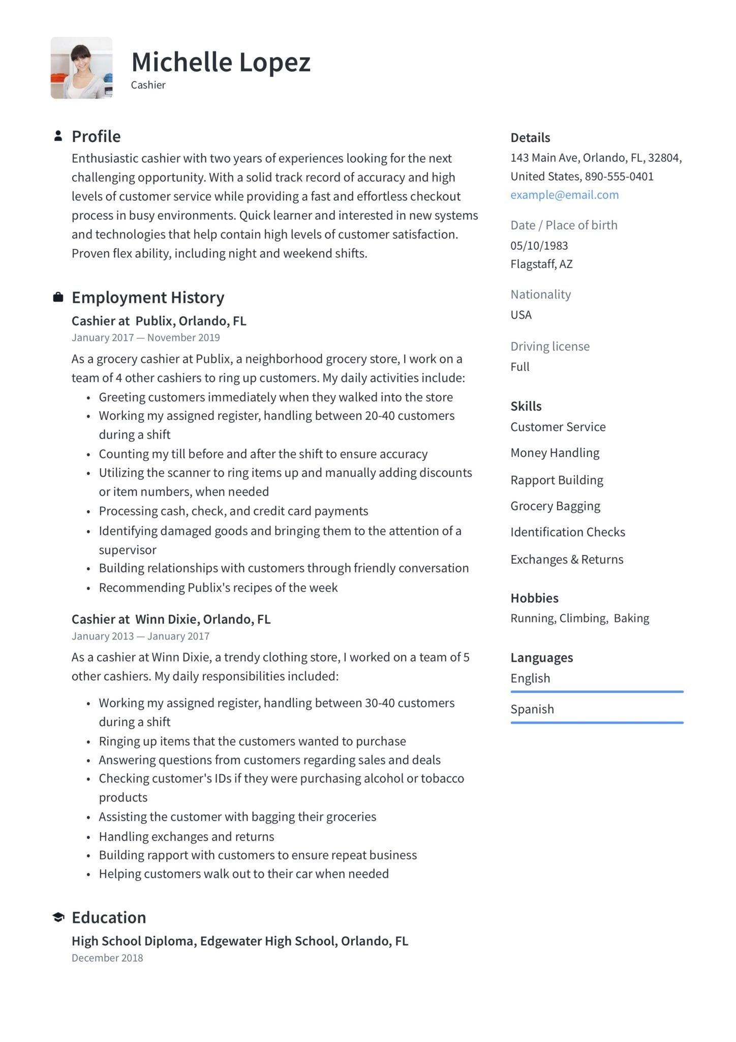 Cashier Resume Writing Guide 12 Samples Pdf Word 2020