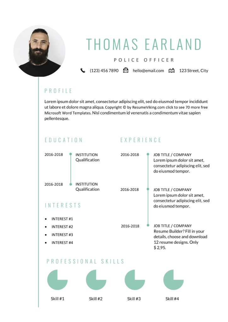 minimal creative resume template