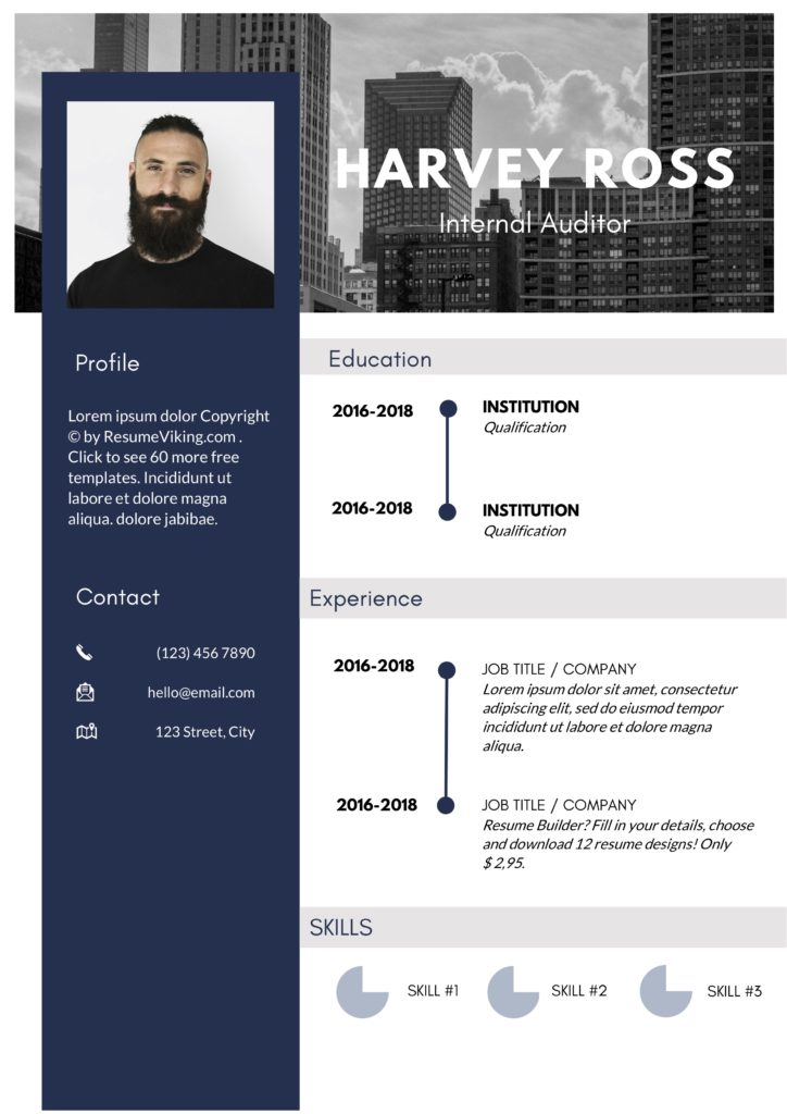 metropolitan looking modern resume