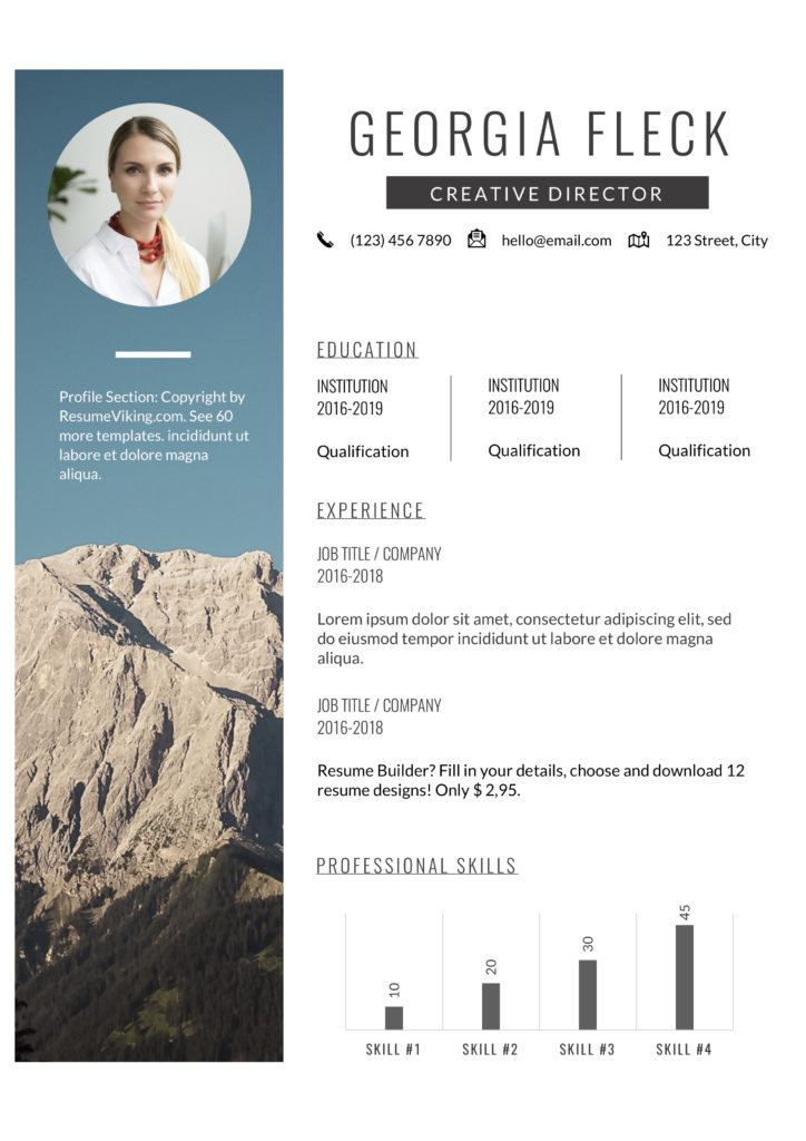 creativeminimal design word resume