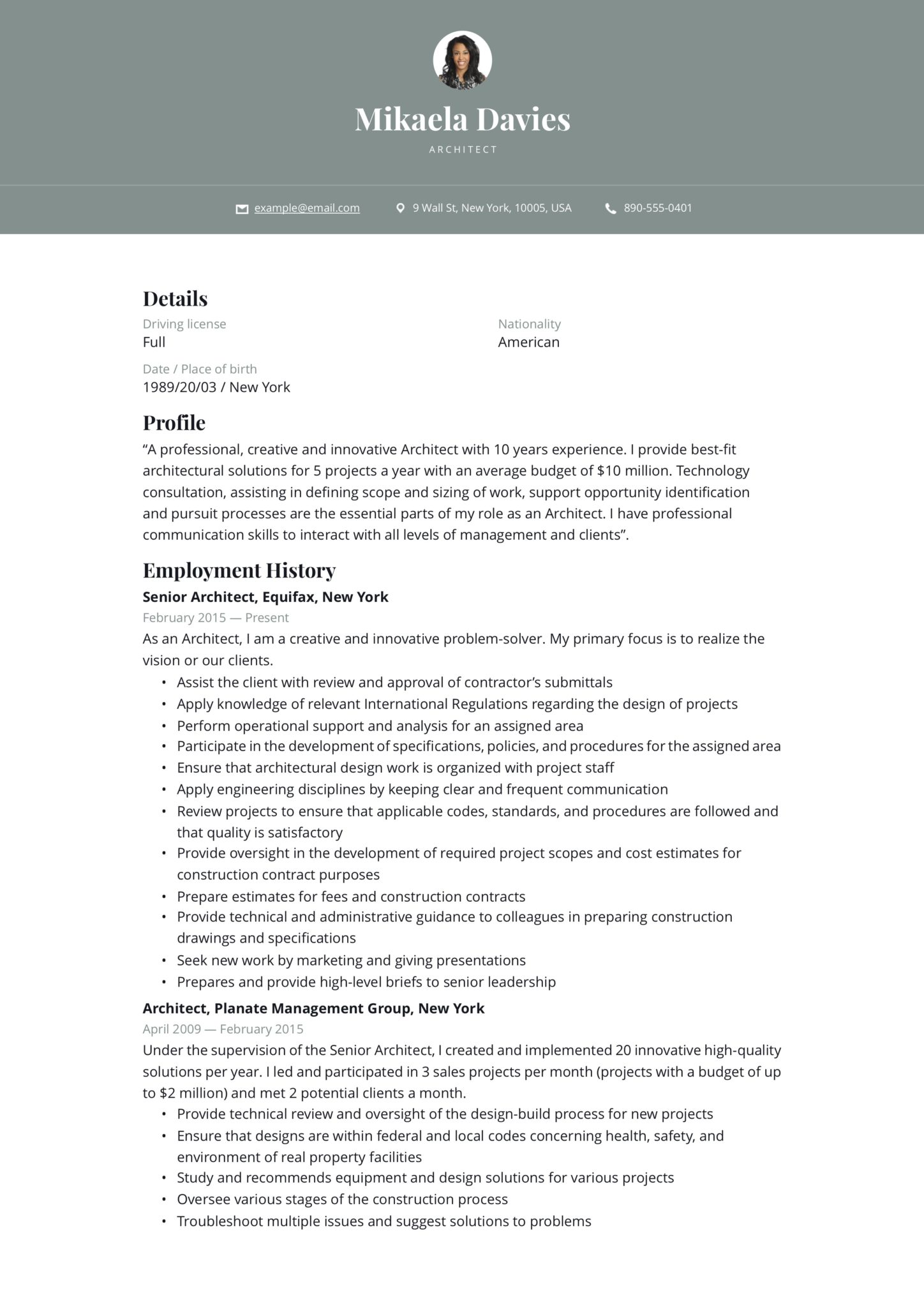 architect resume  writing guide   19 samples  pdf  word